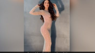 Photo of Nora Fatehi gets a stylish photoshoot in a bodycon dress, see viral video
